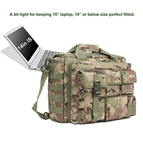 Ges Multifunzione Uomini Di Nylon Lady Outdoor Messenger Bag Spalla Del Computer Portatile Tattico Valigetta Borsa Abbastanza Grande Per 15,6 Laptop / / Ipad (nero) Cp Fotocamera