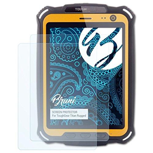 Bruni Schutzfolie kompatibel mit ToughGear Titan Rugged Folie, glasklare Bildschirmschutzfolie (2X)