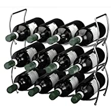 Viscio Trading 171532 - Botellero cromado apilable, acero, plata, 13 x 40 x 40 cm