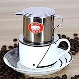 Bluelover Vietnamesisk stil rostfritt stål kaffe droppgryta filter kaffebryggare infusion kaffe droppkanna