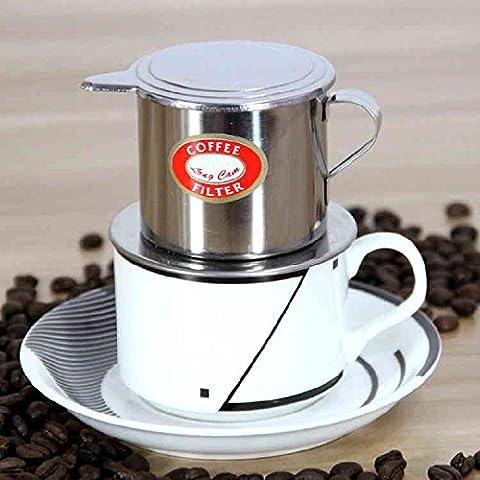 Bluelover Vietnamita-style de acero inoxidable cafetera goteo filtro Cafetera infusión café goteo