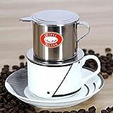 Bluelover Vietnamesisch-Stil Edelstahl Kaffee Drip Pot Filter Kaffeemaschine Infuser Kaffee Tropf Topf