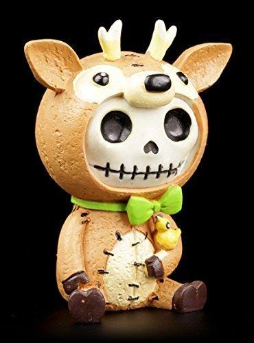ehbock Deer mit kleinem Vogel | inkl. Geschenkbox für Sammler | Lustige Deko Totenkopf Gesicht (Liebe Vogel Kostüme)