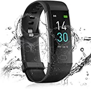 24HOCL Smart Watch Fitness Tracker with Temperature Measurement Heart Rate Sleep Monitor, Waterproof Sports Wr