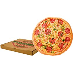 Cojín original con diseño de pizza