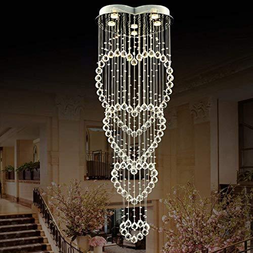 homker Kronleuchter zeitgenössischer moderner Kristall führte warmes Licht/weißes Licht 4W × 6 Lichter,Weißes Licht -