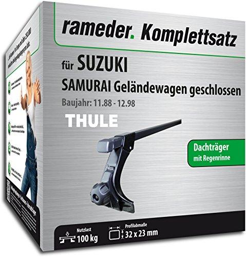 Rameder Komplettsatz, Dachträger SquareBar für Suzuki Samurai Geländewagen Geschlossen (115963-01241-1)