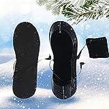 zaote Semelles chauffantes électriques pour Chaussures de Taille 38-46, alimentées par Batterie, Semelles chauffantes en Fibre de Carbone pour l'hiver et la Marche en Plein air
