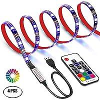 Tiras LED 2M Retroiluminación LED de TV USB Tira De Luz Con Control Remoto RF Para TV de 40 A 60 Pulgadas HDTV, Monitor De PC