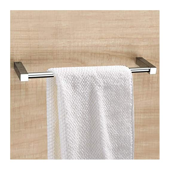 Plantex Stainless Steel Towel Hanger for Bathroom/Towel Rod/Bar/Bathroom Accessories(24 Inch-Chrome)