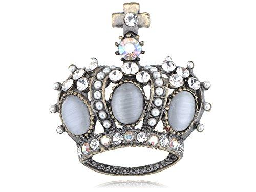 s Perle Royal King Crown Fashion Jewel Kostüm Pin Brosche (Crown Royal Kostüme)