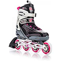 METEOR® FLOW Pattini in Linea | Bambini | Donna | Uomo | Inline Skates | Dimensioni 32-35 / 36-39 / 40-43 | ABEC 7, dimensione:S (32-35);Colore:black / pink