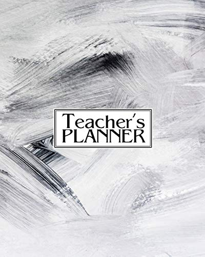 Teacher's Planner: Undated 12-Month Planner For Teachers - Helps With Organizing, Lesson Planning and Record-Keeping | Track All Class Details With ... Scheduler - Charcoal Abstract - Matte -