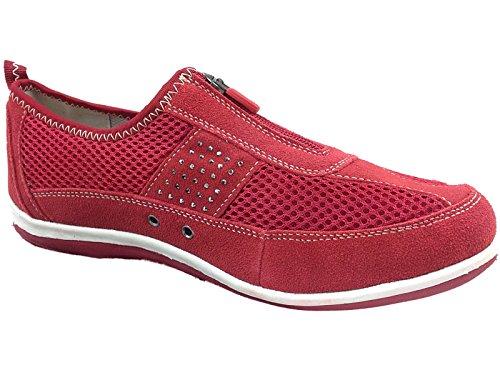 Pad Per Scarpe Pelle Rosso Scarpe Casual Numero 36 Camminare Cerniera Scarpe Da In Bernie 41 Donna Brenda Sneakers Di PIXnU8BX