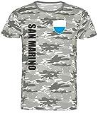nationshirt San Marino - Maglietta Camouflage wspa Army Mimetico L
