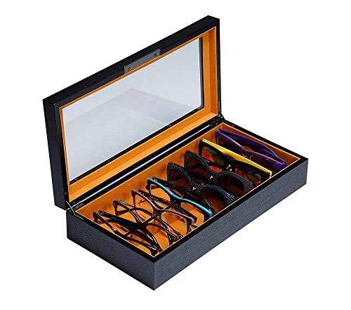 Art Lins Bedford Collection Brillenbox für Herren und Damen, für 8 Sonnenbrillen schwarz