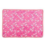 chaud Tapis de lit pour chien Petit Chat Chien Chiot Coussin de lit Couverture douce en polaire Rose