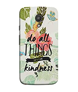 PrintVisa Designer Back Case Cover for Motorola Moto G2 :: Motorola Moto G (2nd Gen) (Leaf Design Nature Flowers Green Black Font Caption)
