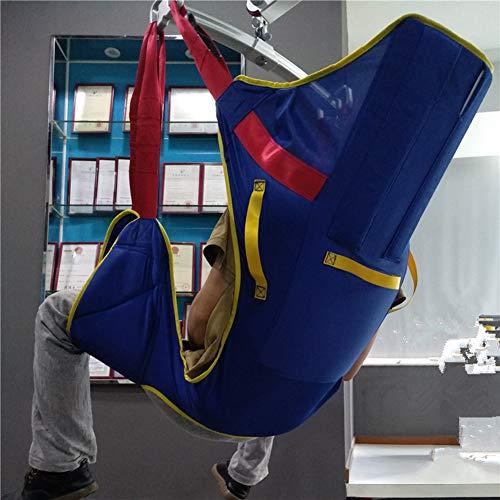 51cZYjlmbCL - MYLW Paciente Levantar Transferir Cinturón con Seis Punto Apoyo Cuerpo Completo Seguro Transferir,Ayudar Izar Paso Cinturón con Pesado Deber