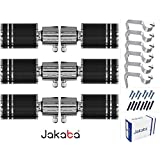 JAKABA Premium Quality Wenge Finish Stainless Steel and Alloy Curtain Finials with Heavy Supports - PACK of 12 Pcs. (Finials : 6 Pcs + Supports : 6 Pcs) : Curtain Brackets Set / Holders for Window / Door - JKB1083WG