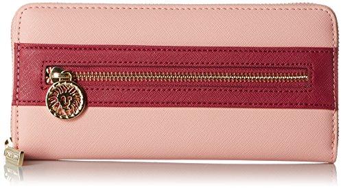 Anne Klein Nouvelles recrues Petit Zip autour de portefeuille, la pivoine/Ruby, taille unique