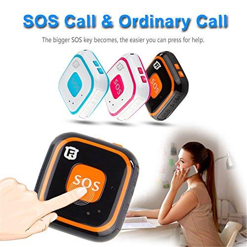 Micro Children GPS Tracker Necklace Mini the Elderly SOS