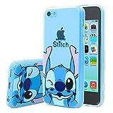Apple iPhone 5C Étui HCN PHONE Coque silicone TPU Transparente Ultra-Fine Dessin animé jolie pour Apple iPhone 5C - Stitch