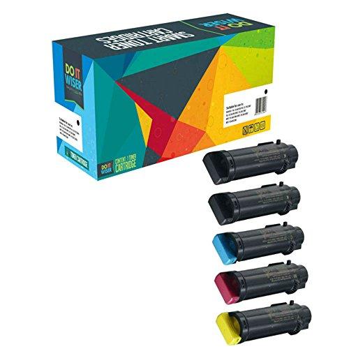 5 Do it Wiser ® Toner Kompatibel für Xerox WorkCentre 6515DN 6515 6515DNI 6515DNM 6515N | Phaser 6510 6510DN 6510DNI 6510DNM 6510N (Kompatibel Phaser)