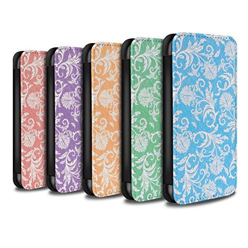 Stuff4 Coque/Etui/Housse Cuir PU Case/Cover pour Apple iPhone 8 Plus / Pack (10 modèles) Design / Fleurs Collection Pack (10 modèles)