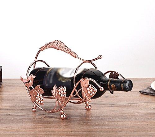 CXQ Weinregal Continental Creativity Weinregal Iron Kunst Ornamente Weinregal Haushalt Einfache Flaschenregal Länge 27 x Breite 11,5 x Höhe 18 cm (Farbe : #3)