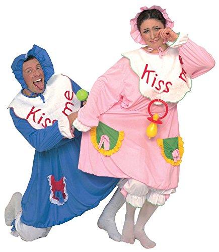 Baby Kostüm Blau für Erwachsene Herren Gr. M 50 (Baby Kostüme Kiss)