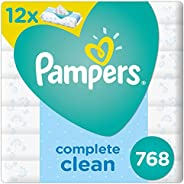 Pampers Complete Clean Baby Wipes, 6+6, 768 Count