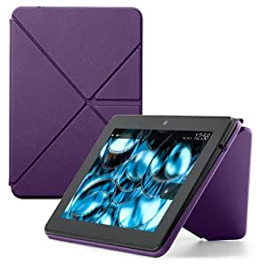 """Amazon Kindle Fire HDX 7"""" Standing Polyurethane Origami Case (will only fit All-New Kindle Fire HDX 7""""), Purple"""