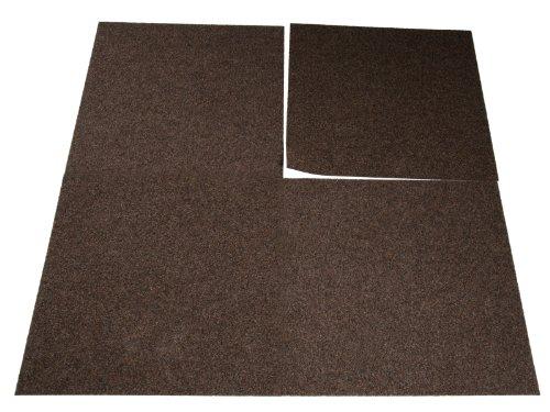 Floori Teppichfliesen Jazz Set - Braun - Premiumklasse (2,5kg/m², antistatisch, bitum)