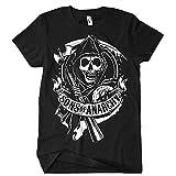 Sons Of Anarchy–Camiseta para hombre SOA desplazamiento, negro, L negro L