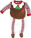 Lily & Jack - Baby Jungen Strampler Schlafanzug Weihnachten Weihnachtswichtel aus Nicki Gr. 68/74 (6/9M)