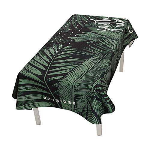 Tischdeckenparty, Nordische Pflanzen Einfache Tischdecke Baumwolle Und Leinen Kleine Frische Rechteckige Runde Couchtisch Tischdecke,D-140 * 180cm