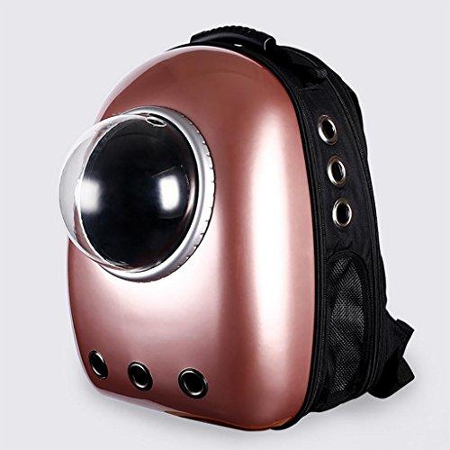 MYYXT Haustier Rucksack mit Guckfenster aus Leder für kleine Hunde und (Leder Anzug Katzen)