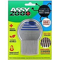 ASSY 2000 – Peine antipoux antilentes – en acero templado inoxidable con dientes micro-cannelées
