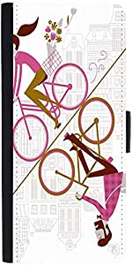 Snoogg Mirror Cycling 2557 Designer Protective Flip Case Cover For Sony Xperi...