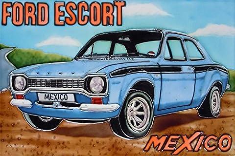 Ford Escort Mexiko 8x 12Deko Keramik Bild Tile Art Geschenk Offiziell lizenziertes Artwork