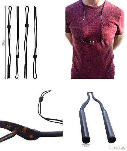 snowegg UK–PREMIUM negro, cómodo y ajustable correas de gafas de sol y...