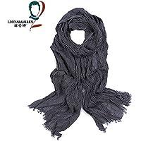 MEICHEN-uomini in autunno e in inverno le striature tralicciati sciarpa cotone reversibile lungo due sciarpa