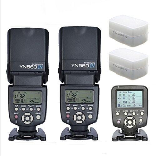 YONGNUO 2pcs YN-560 IV Flash Speedlite With 560TX-C Transmitter for Canon EOS 5D,5D25D Mark II,1D,7D, 60D ,50D, 40D, 30D, 600D, 550D, 500D, 450D, 400D, 350D ,300D,1100D,6D With 2pcs EACHSHOT® Diffuser