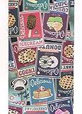 Tappeto Cucina Vintage a metraggio Gelato Caffe Coffe Dolci Cookies Moderno Lavabile in Lavatrice Antiscivolo Made in Italy (52x100)