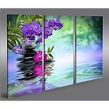Cuadro en Lienzo Wasser Zen 3p Impresión sobre lienzo - Formato Grande 3 Partes - Impresion en calidad fotografica