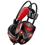 POSUGEAR Cuffie Gaming PC, Cuffie da Gioco Gamer con Microfono Cancellazione del...