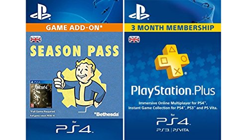 Fallout 4 Season Pass + PlayStation Plus 3 Month Membership [PSN