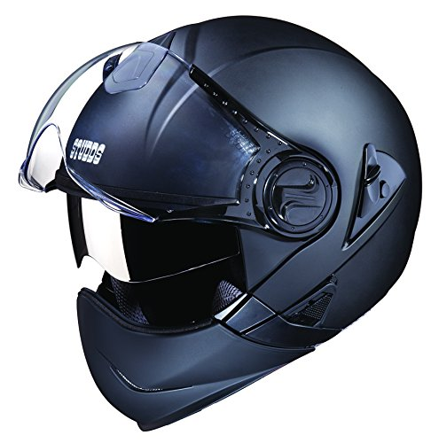 Studds Downtown SUS_DFFH_MBLKL Full Face Helmet (Matt Black, L)