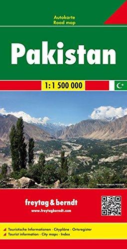 Pakistan, Autokarte 1 : 1.500.000, freytag & berndt Auto + Freizeitkarten